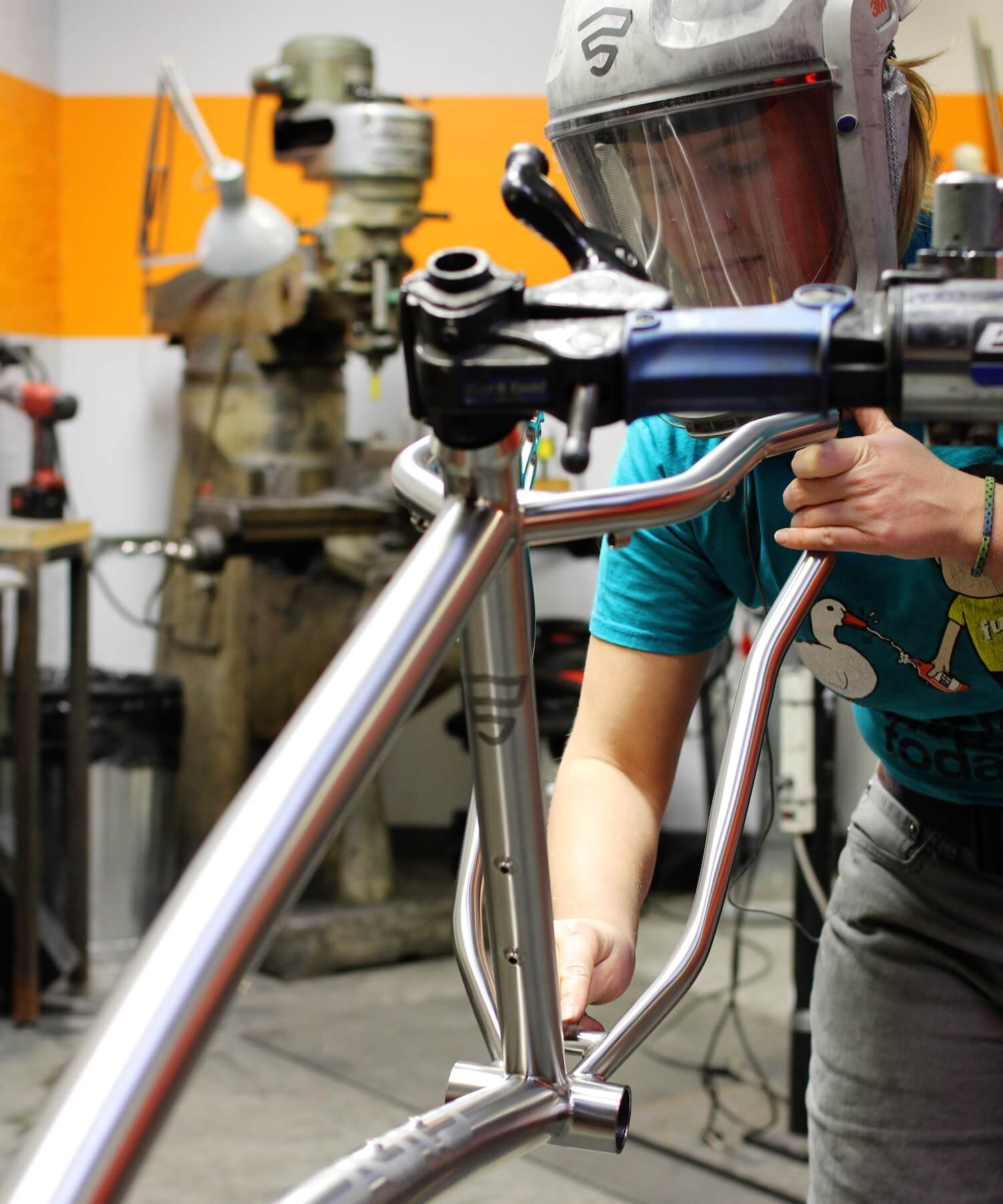 Ellen Betchel makes sure that the anodized graphics on every Firefly look perfect.