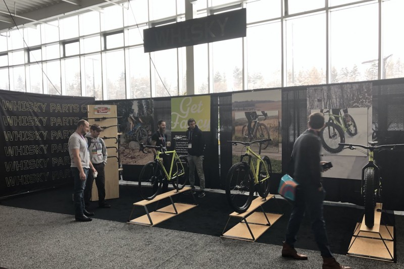 The Whisky Parts Co. booth at Frostbike 2019