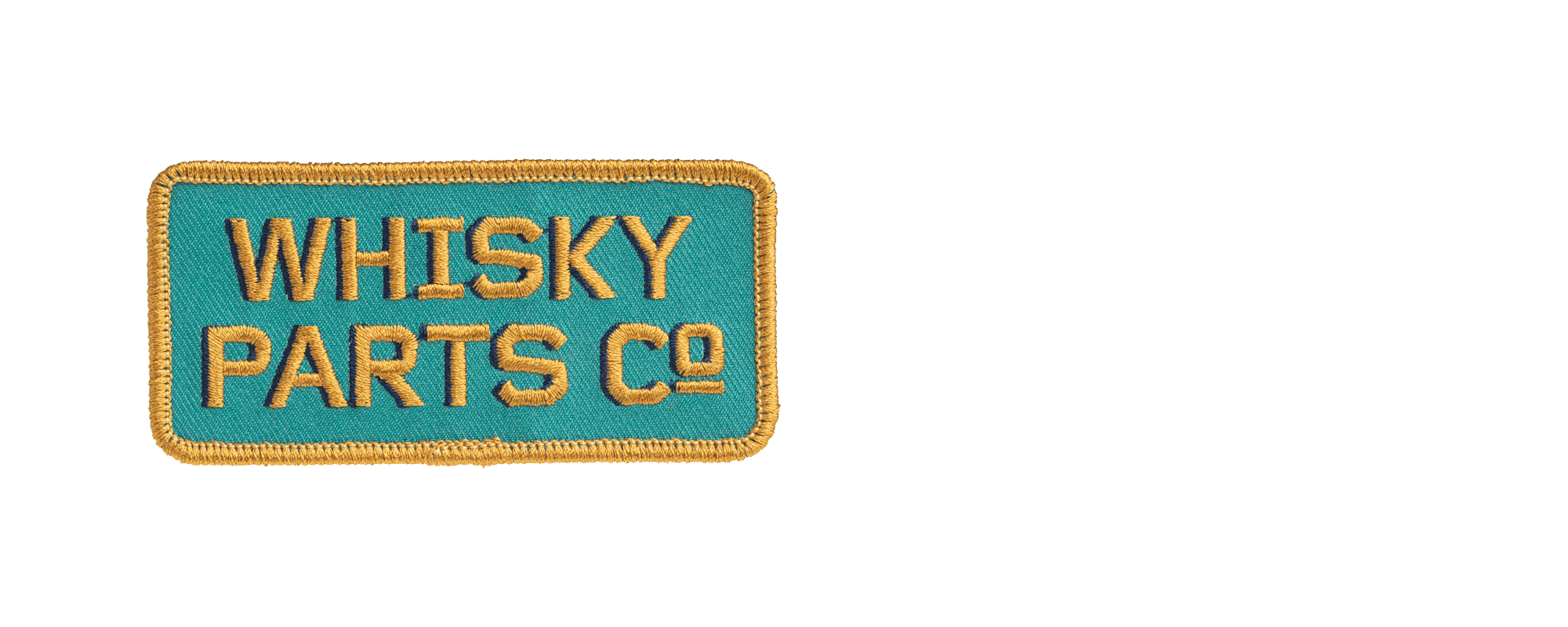 Whisky Prospector Patch - Turquoise/Gold