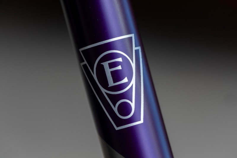 Headbadge details on the Engin Ultimate Bicycle.