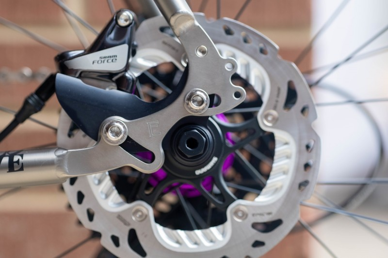 Dropout details on the Engin Ultimate Bicycle.