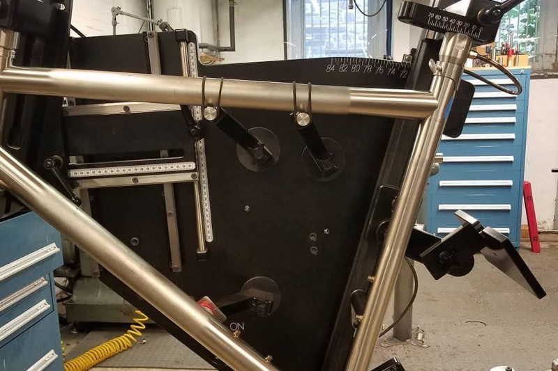 The titanium frame coming together.