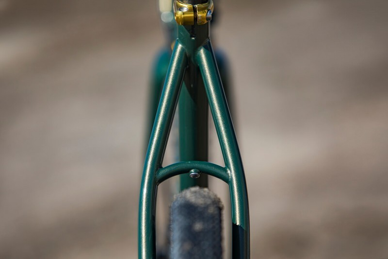 Seat stay detail on Rock Lobster custom gravel bike