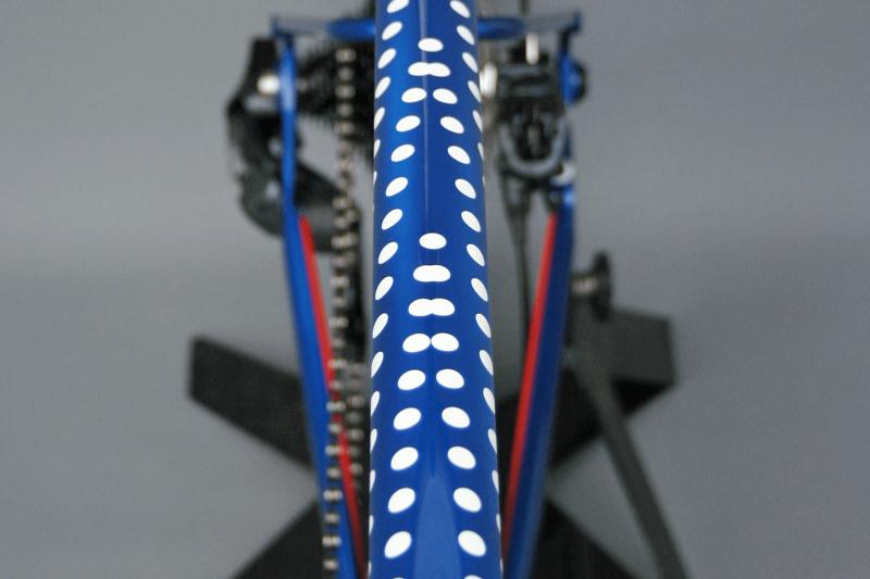 Whisky Select - English Cycles 650B Folding Gravel Concept - Closeup of polka dot detail on frame