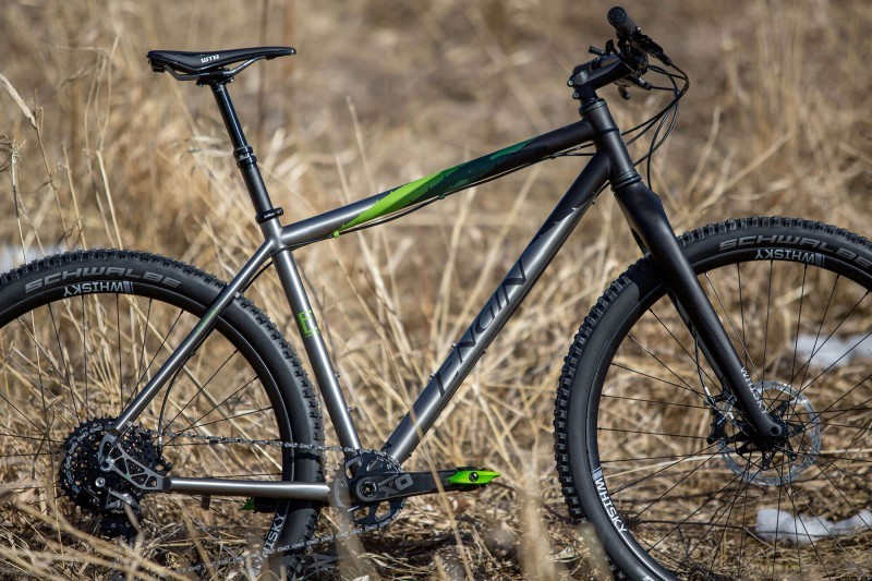 Engine 29er rigid MTB in close-up profile