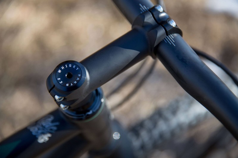 Close up of Engine 29er rigid MTB stem