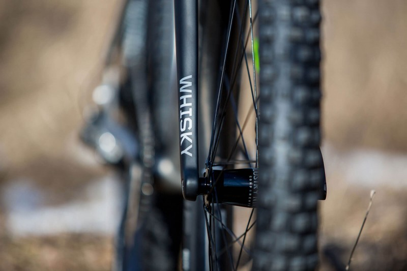 Whisky Fork detail on Engine 29er rigid MTB