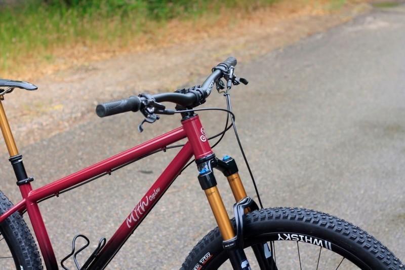 myth talos front wheel fork handlebars