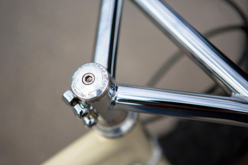 Stem and handlebar detail on Retrotec Fat Single Speed